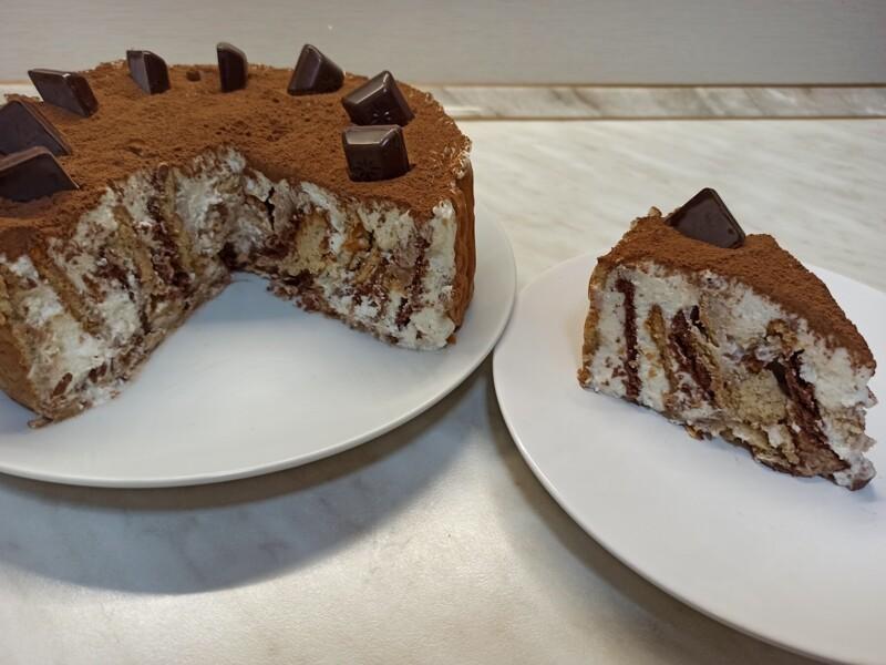 Торт без выпечки «Любимчик». Очень простой рецепт торта из печенья