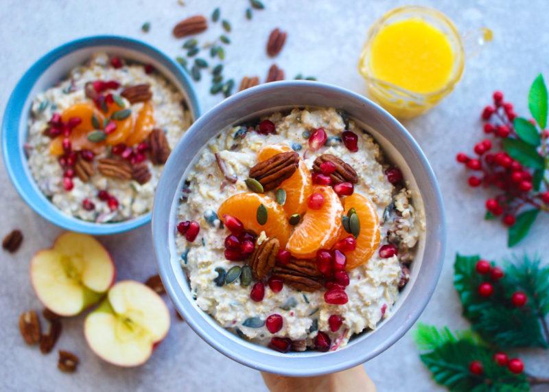 Изображение рецепта Зимняя каша с мандаринами и яблоками