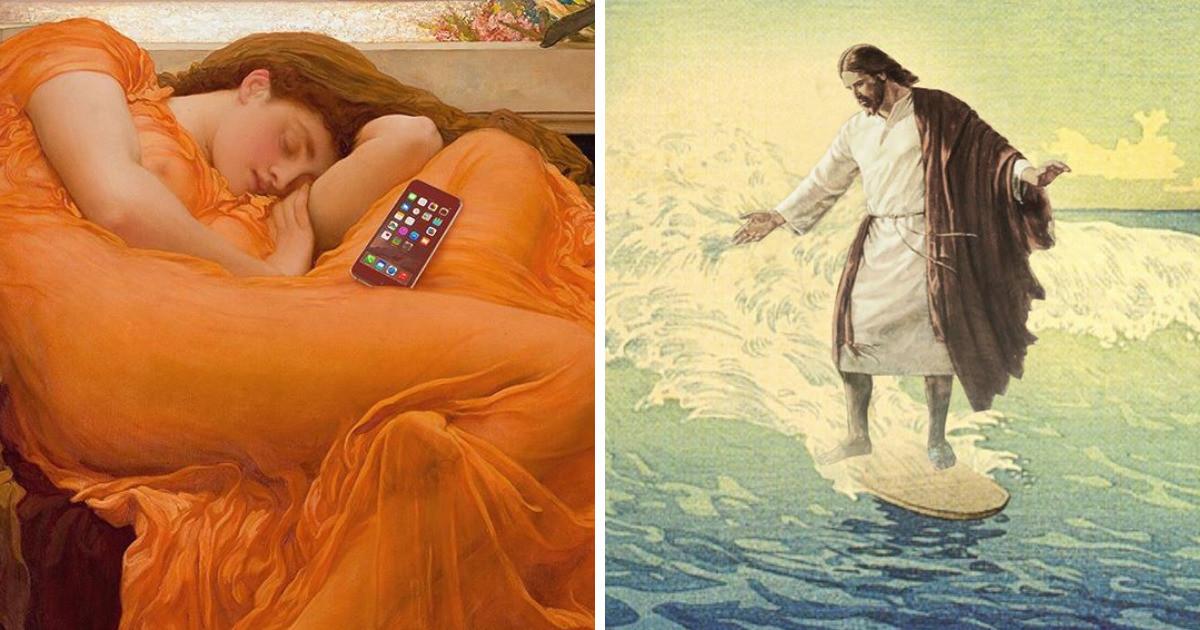 Если бы классические картины были созданы в наши дни