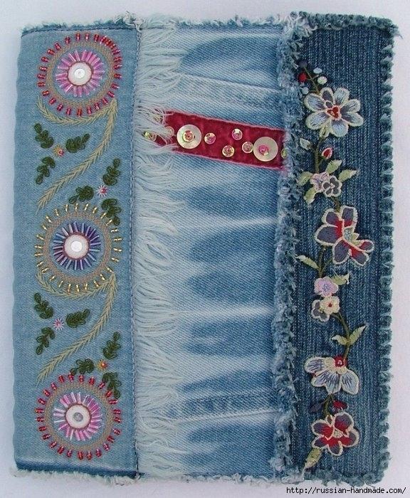 Модные сумки из старых джинсов 53 576x700