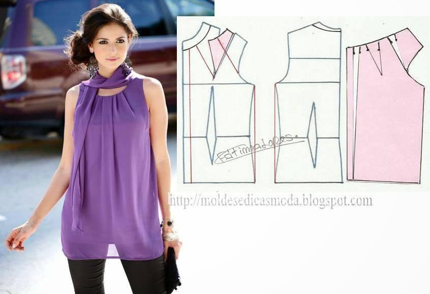 Фото блуз с выкройками