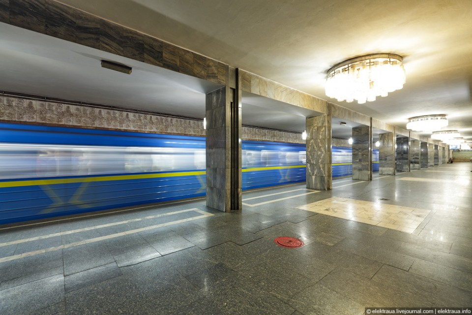 Фотографии киевского метрополитена