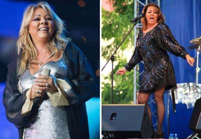 Певица в России, 2011 и 2014 гг. | Фото: kp.ru и sandra.in.ua