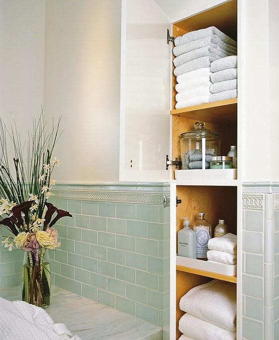 Интерьер шкаф в ванной