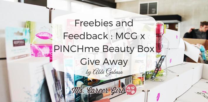 Freebies and Feedback : MCG x PINCHme Beauty Box Giveaway