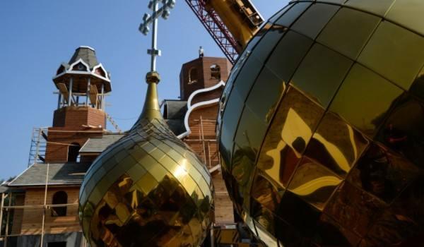 Строительство деревянного храма в Ховрино будет завершено до конца 2019 года
