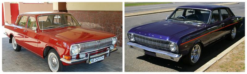 ГАЗ-24 (1969-1992)-Ford Falcon (1962-1970) автомобили, история, ссср, факты