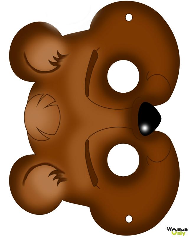 Новогодние маски из бумаги - праздник уже с вами маска медведя
