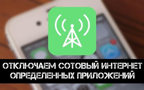 Как отключить сотовый Интернет для определенного приложения на iPhone