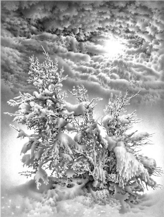 рисунки карандашом Гурам Доленджашвили - 15