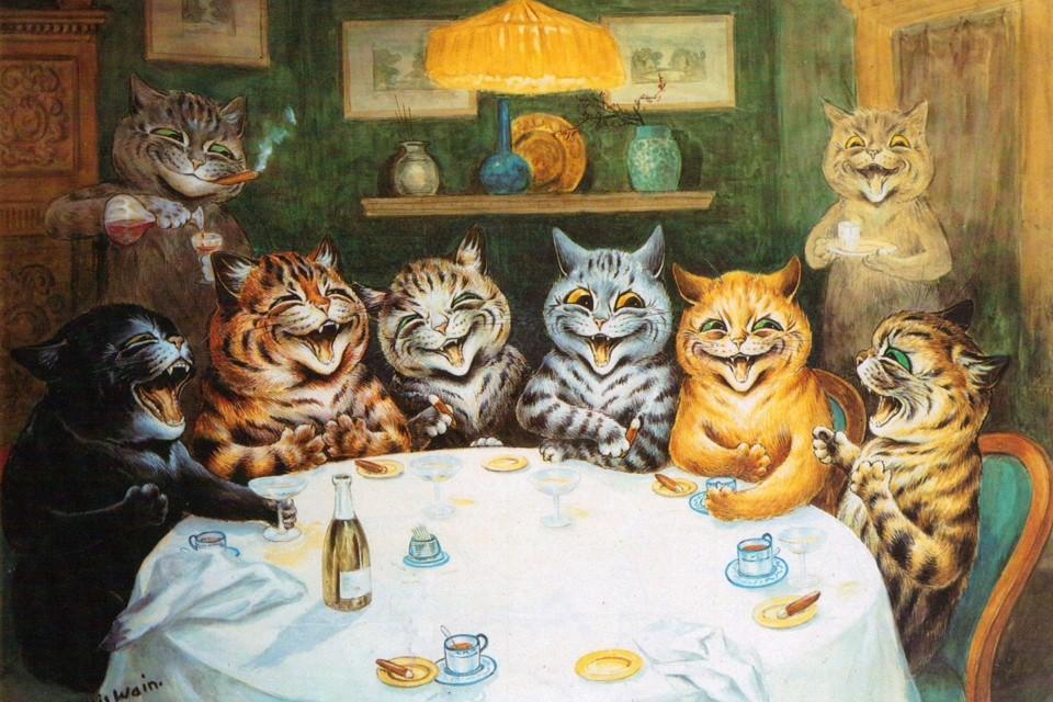 Художники всегда интересовались великолепием и грацией кошачьих