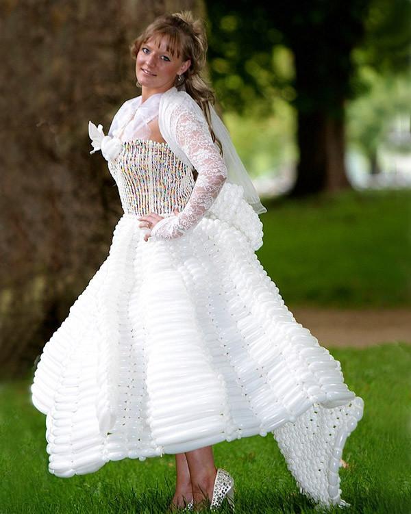 24. Свадебное платье из воздушных шаров Свадебные платья, свадьба