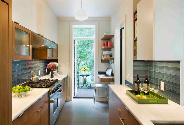 Шикарный  домашний офис на кухне? Легко!