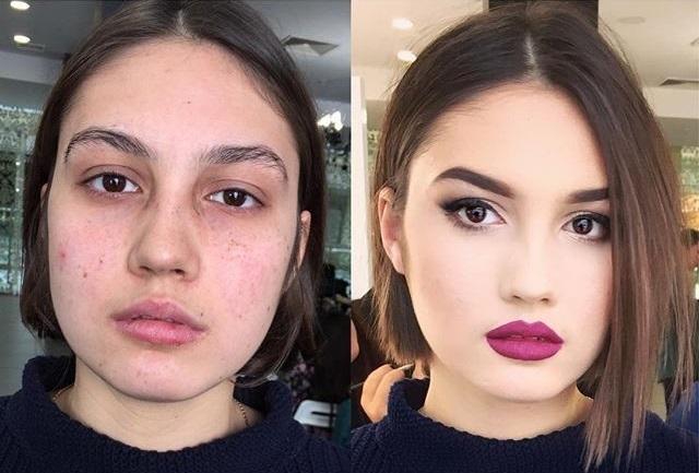 20 женщин, которых макияж изменил до неузнаваемости.