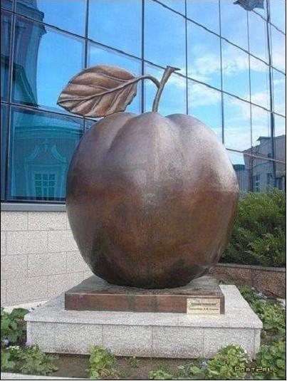 Памятник яблоку (не Apple!). Курск Прикольные памятники, факты