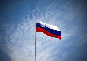 В центре Одессы появились российские флаги
