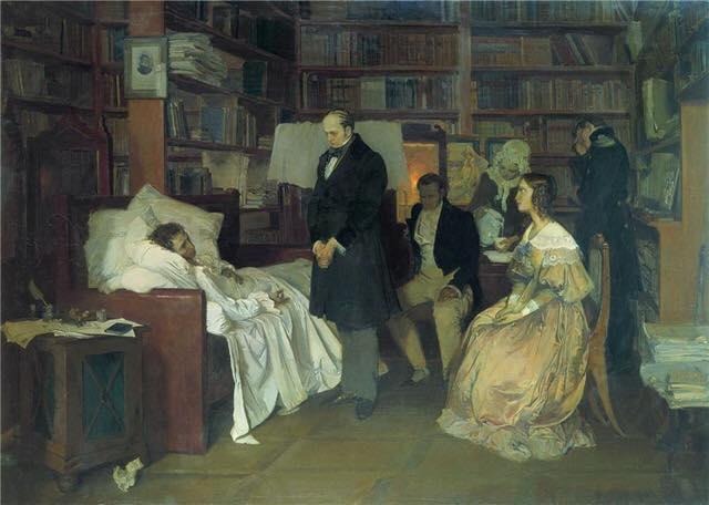 10 февраля 1837 года умер от перитонита А.С. Пушкин