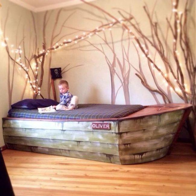 Детская кровать в виде лодки своими руками