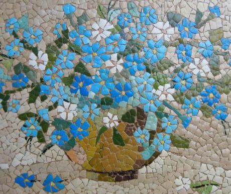 Мозаика из яичной скорлупы...