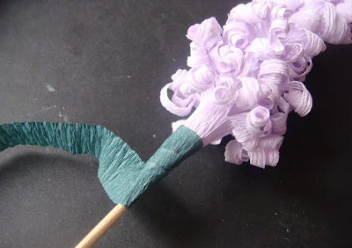 Мк гиацинты из гофрированной бумаги