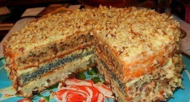Самый популярный трехслойный домашний торт — объедение!