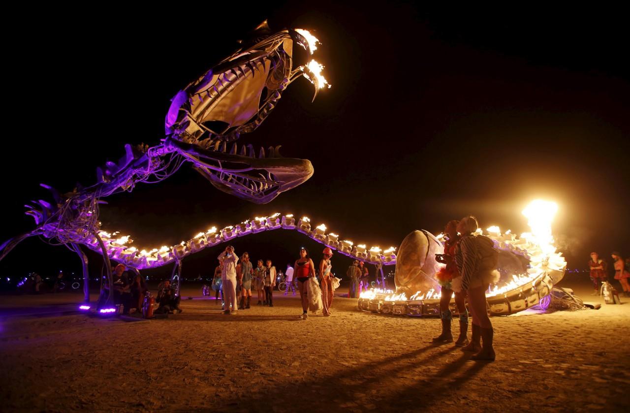 Сюрреализм «Горящего человека» : Burning Man 2015