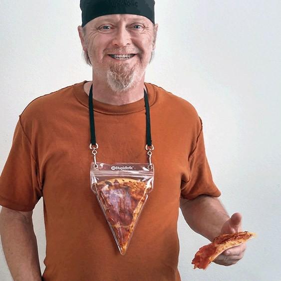2. Кармашек для куска пиццы новый год, подарки, приколы
