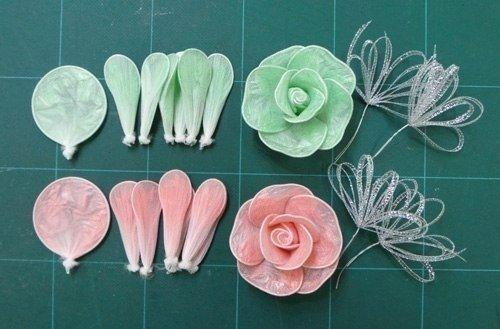 Как сделать цветы из пакетов