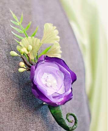 Тканевые цветы на свадьбу