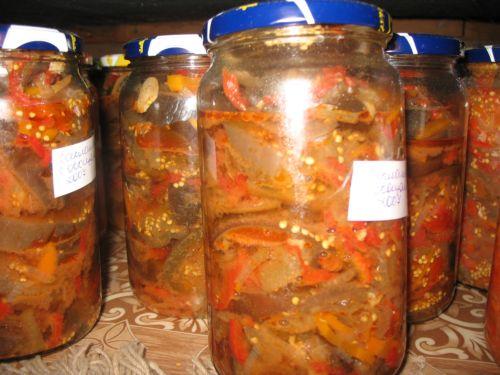 лучшая закуска месяца - баклажаны кружочками с овощами