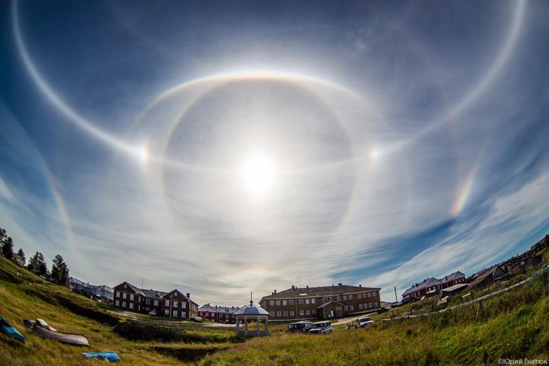 halo01 800x533 Удивительное солнечное гало на Соловках 24 августа 2013 года