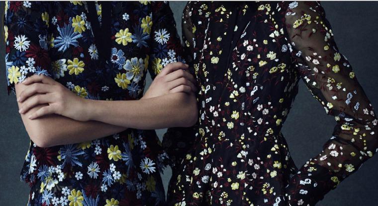 Прекрасные вышивки от Erdem из коллекций 2016 года