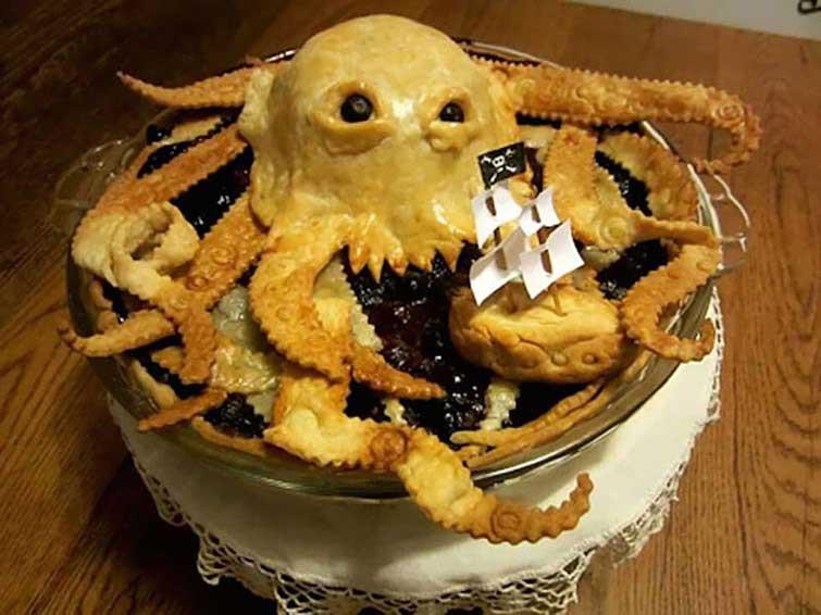 "Пирог ""Кракен"" выпечка, красивая еда, кулинария, пироги"
