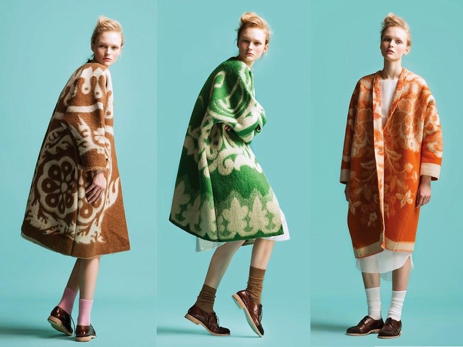 Это просто бомба! Пальто из советских одеял! Эстонский дизайнер Marit Ilison