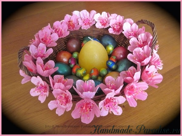 Цветы из ячеек для яиц своими руками