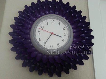 Часы из пластиковых ложек своими руками 61