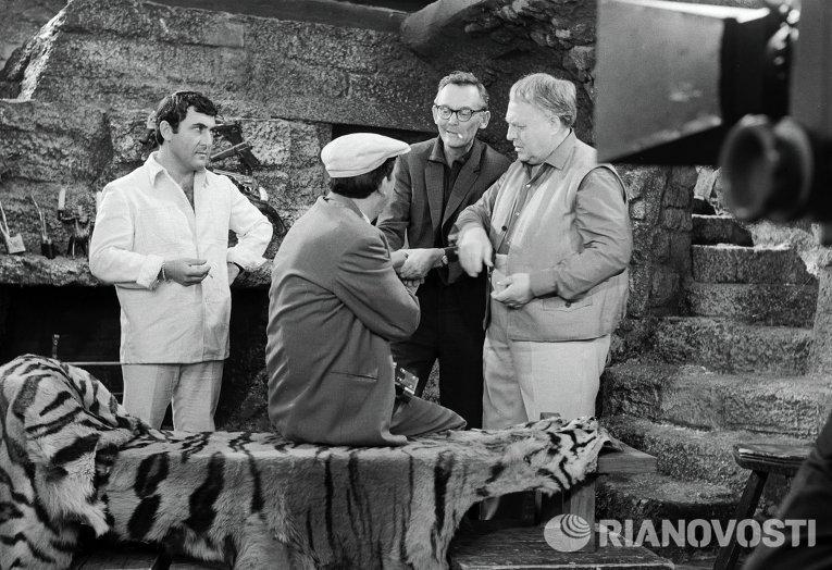 """Юрий Никулин на съёмках """"Бриллиантовой руки"""""""