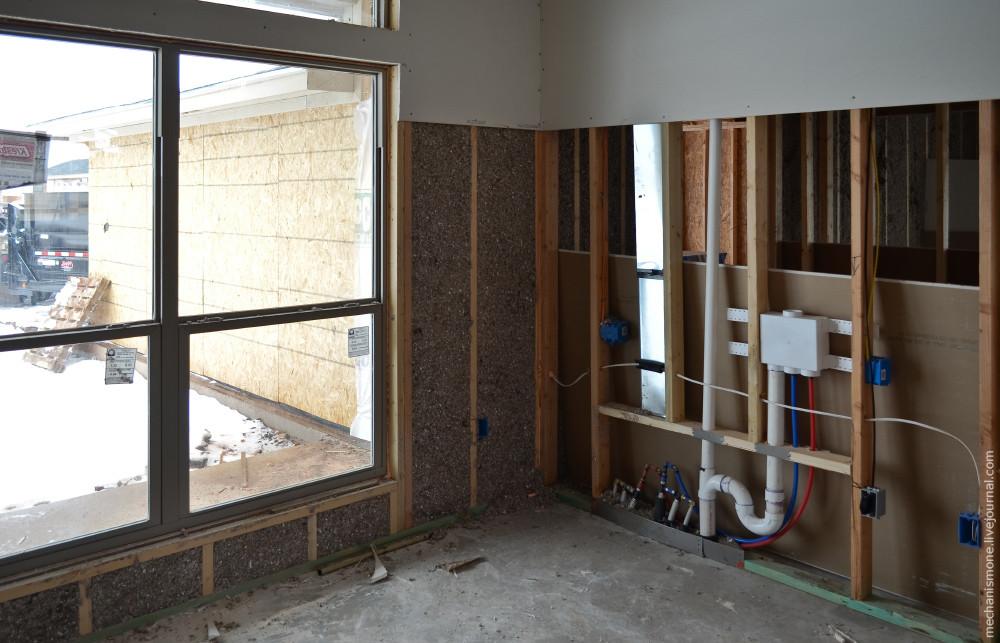 Как строят дома в центральных штатах США дом, стройка, сша