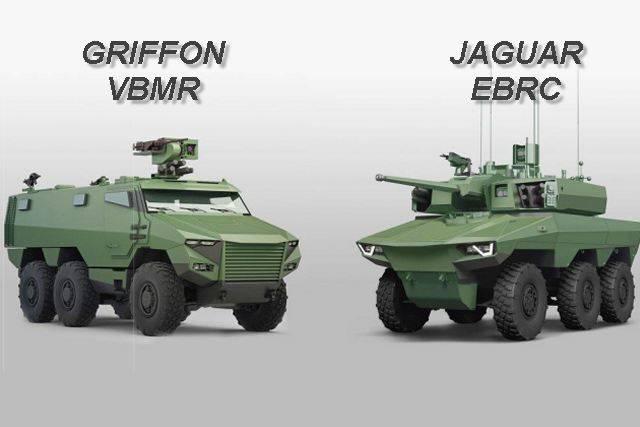 Франция перевооружается на боевые машины Griffon VBMR и Jaguar EBRC.