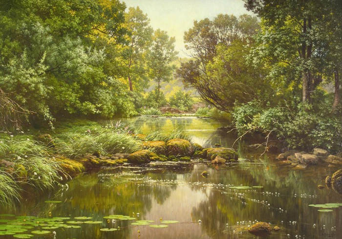 пейзажи художник Charles Edmond Rene-His - 01