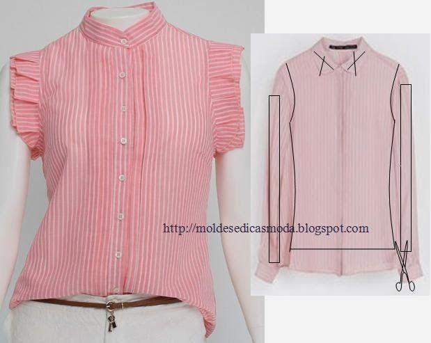 Moda е Dicas де Costura: RECICLAGEM DE Camisas E ФУТБОЛКИ - 4