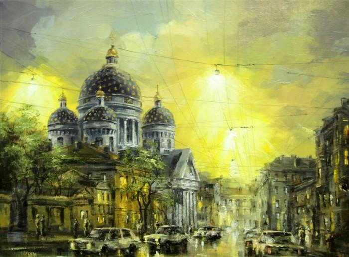 городской пейзаж Игорь Кирсанов - 07