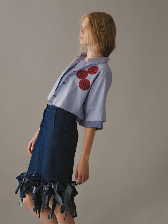 Странная джинсовая юбка