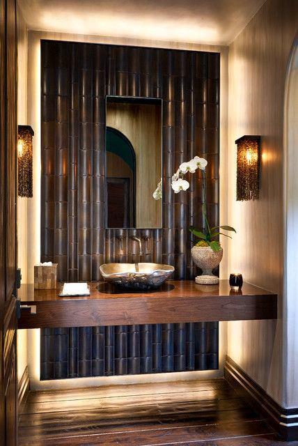 Ванная в цветах: черный, серый, темно-коричневый, коричневый, бежевый. Ванная в стиле экологический стиль.