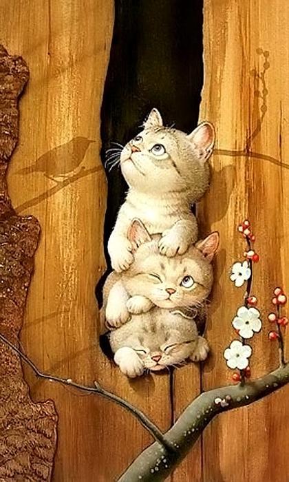 kittens-in-spring (420x700, 357Kb)