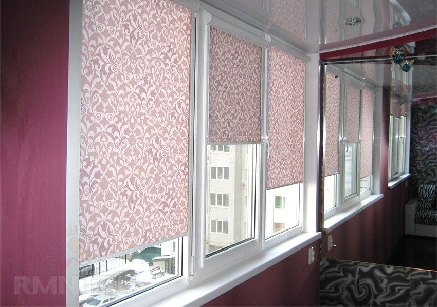 рулонные шторы на окна пластиковые фото