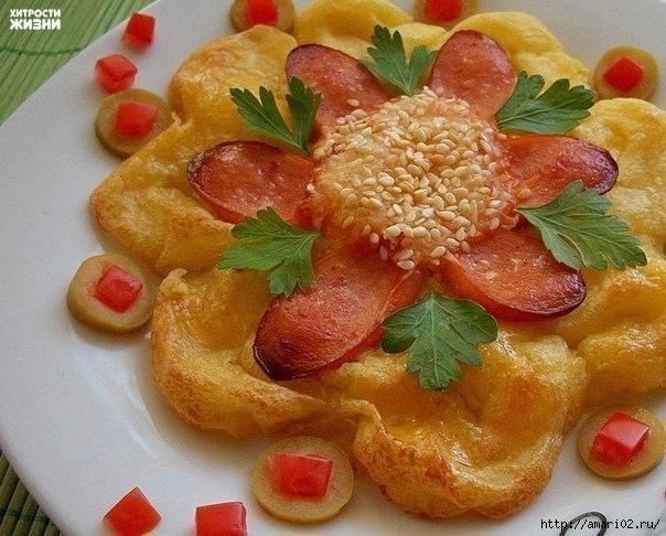 Запечённые картофельные цветы