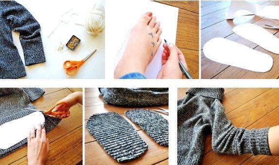 Теплые, красивые и оригинальные тапочки своими руками!