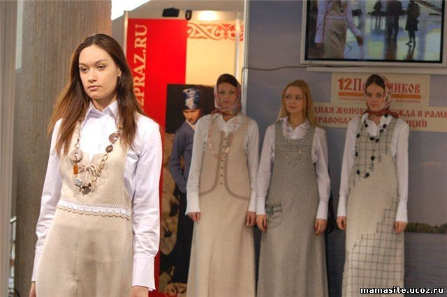 Маслов, одежда женщины в храме рту
