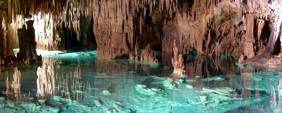 Сак-Актун (Sac Actun), самая длинная подземная река в мире, Тулум, Юкатан, Мексика